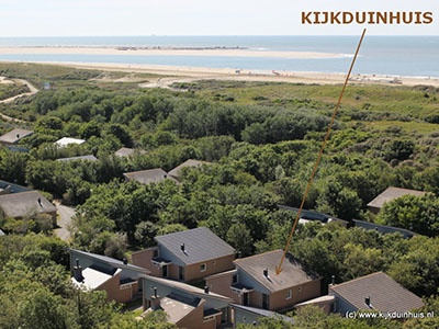 Kijkduinhuis (nr. 188) vlakbij strand en zee; nr. 139 is zelfs nog dichterbij!